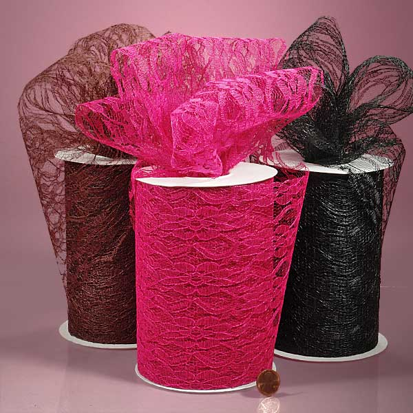 Colored Lace Fabric Rolls