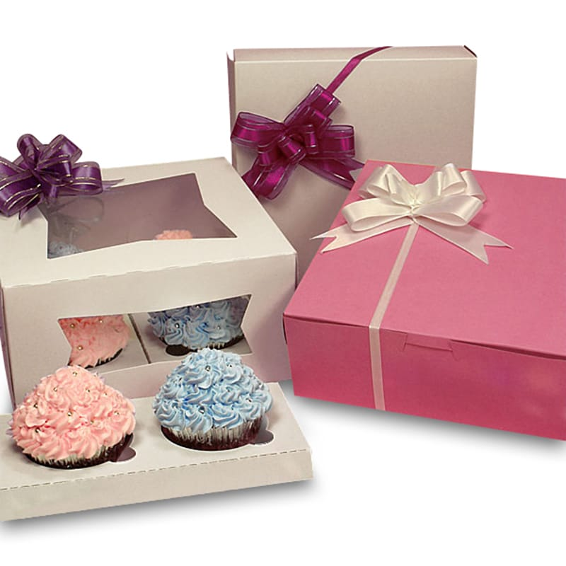 Four Standard Cupcake Boxes