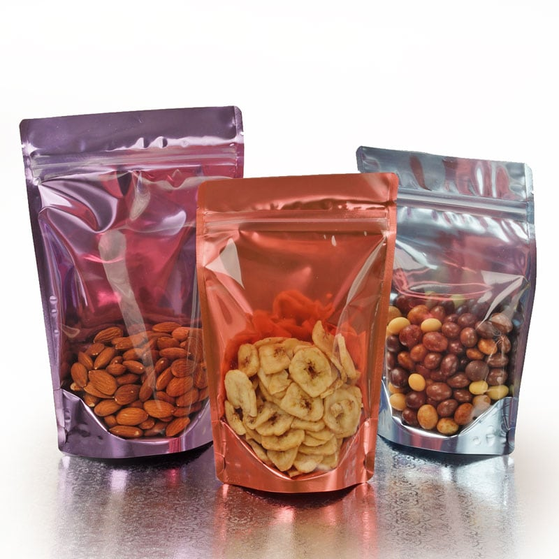 Dual Shield Clear Front Stand-Up Food Pouches