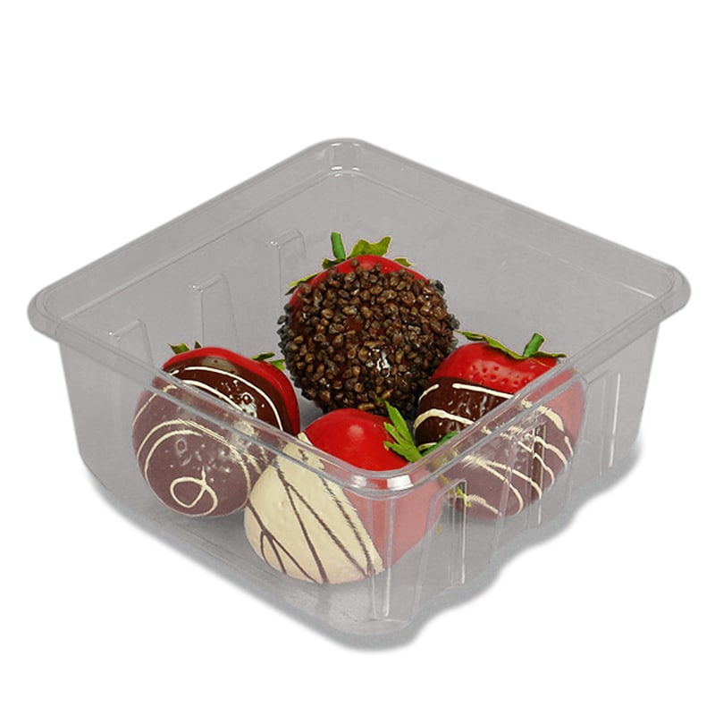 Clear Square Pet Container & Lid