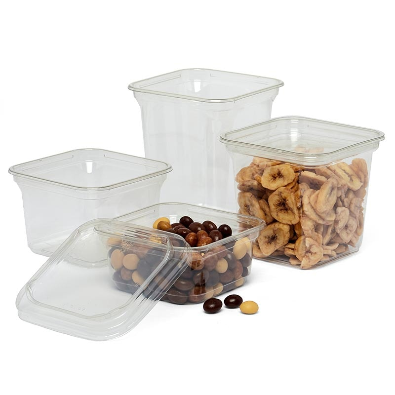 Clear Pet Square Food Containers