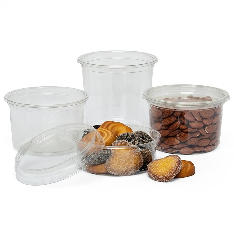 Clear Pet Round Food Containers