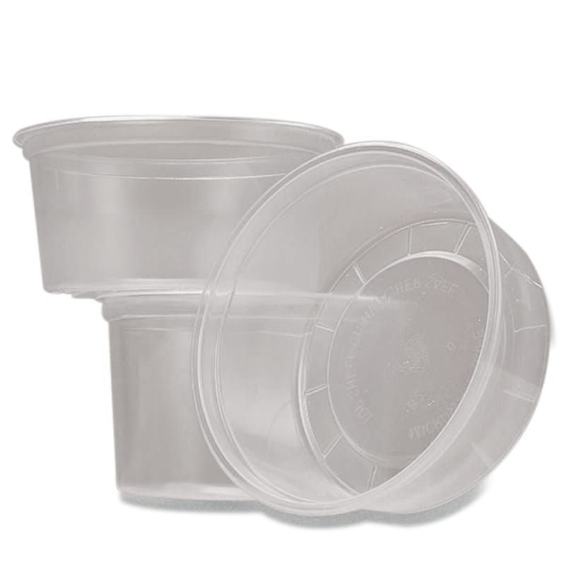 Clear Round Polypropylene Food Containers (No Lid)