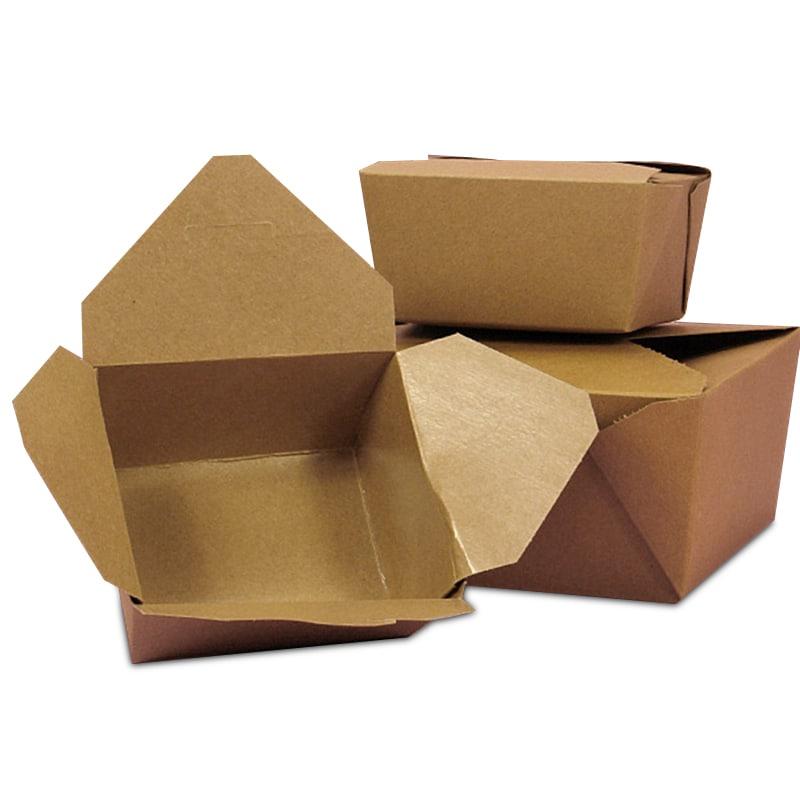 #1 Kraft Econo-Pak Takeout Box - 5-1/8 X 4-3/8 X 2-1/2 - Quantity: 50 Type: Papermart by Paper Mart