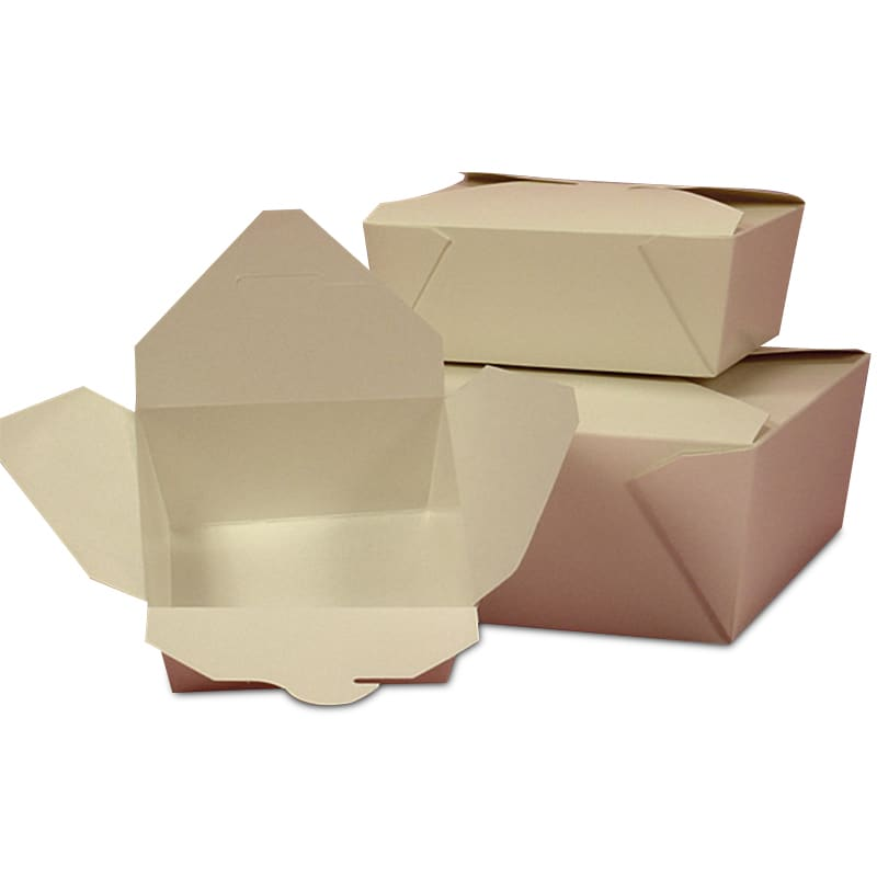 Bio-Pack White Take-Out Boxes