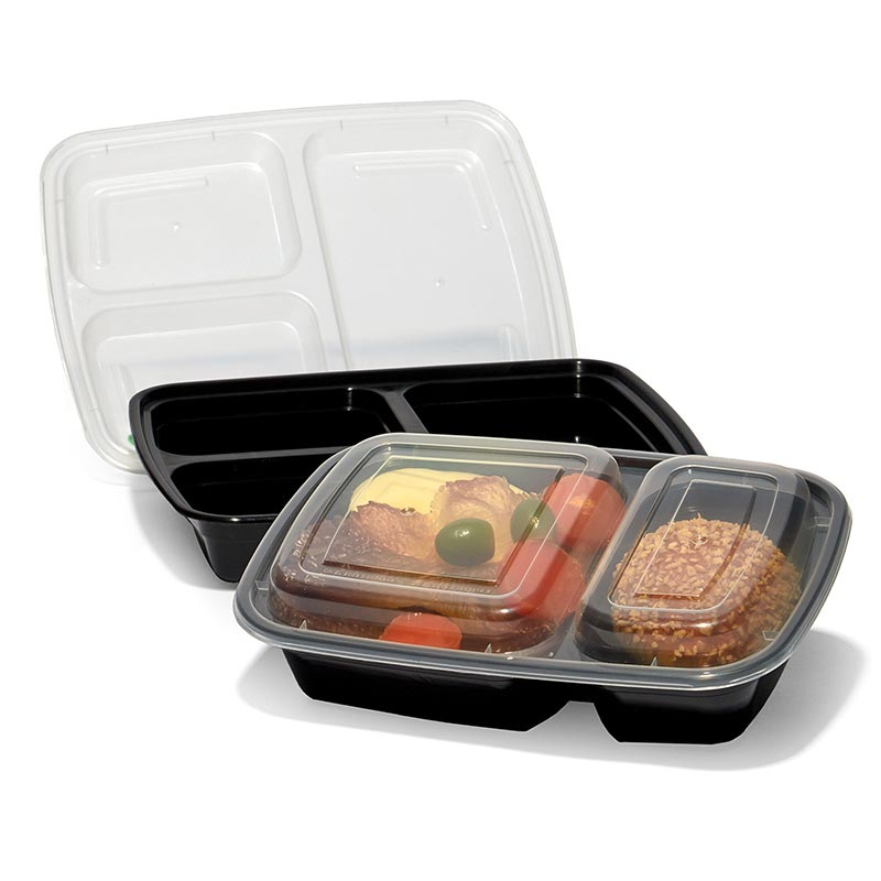 2 Piece Divided Pet Microwavable Containers