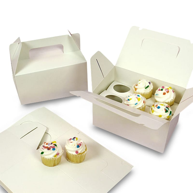 White Six Cupcake Carry Box
