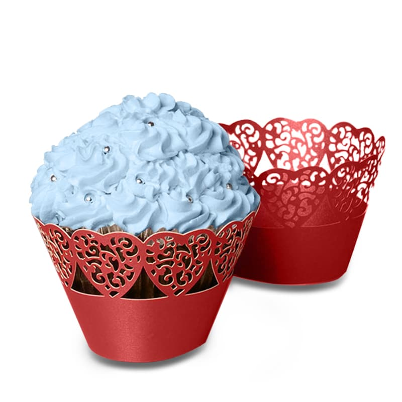 Lace Cut Paper Cupcake Wrappers