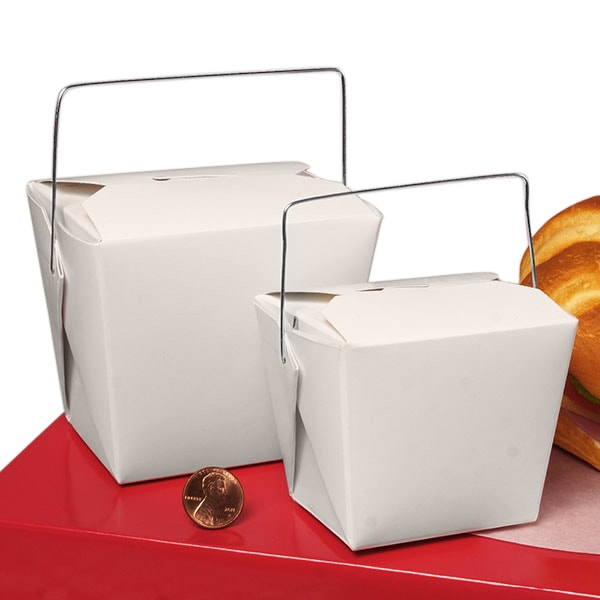 Take out Boxes - Wire Handle Box| Paper Mart