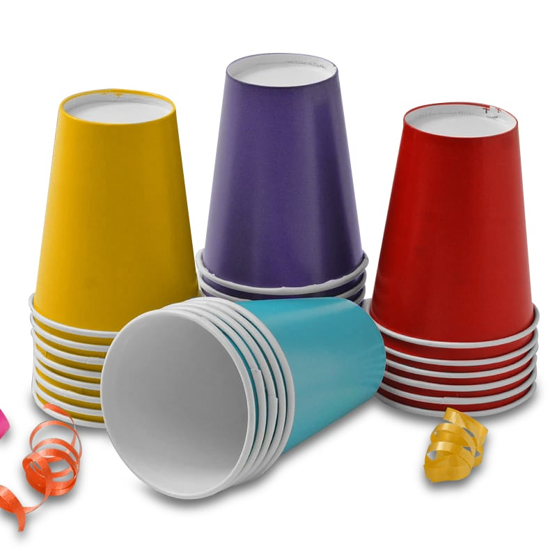 Colored Party Hot/Cold Paper Cups
