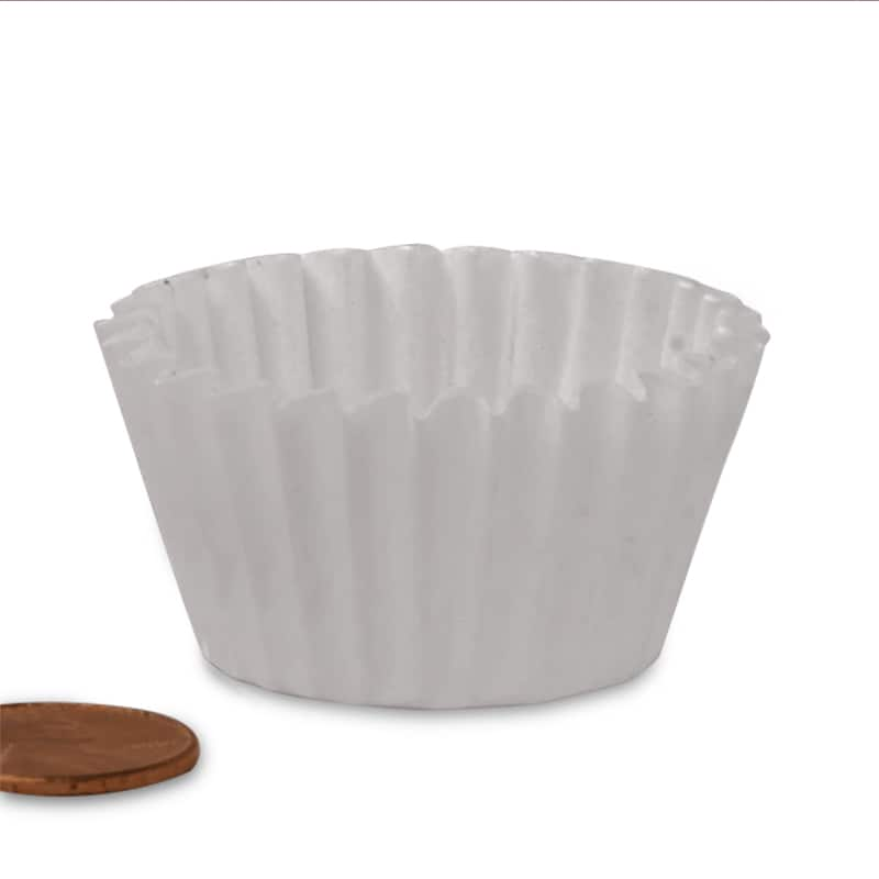 """#105 White Candy Cup - 1-1/2 X 5/8 - Glass - Quantity: 1000 - Candy Packaging - Wall: 5/8"""" - Base: 1 1/2"""" by Paper Mart"""
