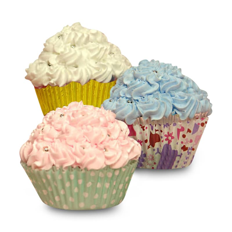 Colored & Patterned Cupcake Baking Cups