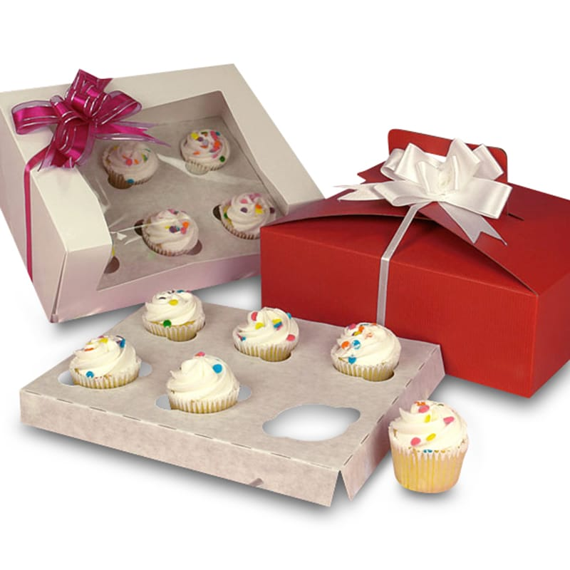 Six Mini Cupcake Boxes