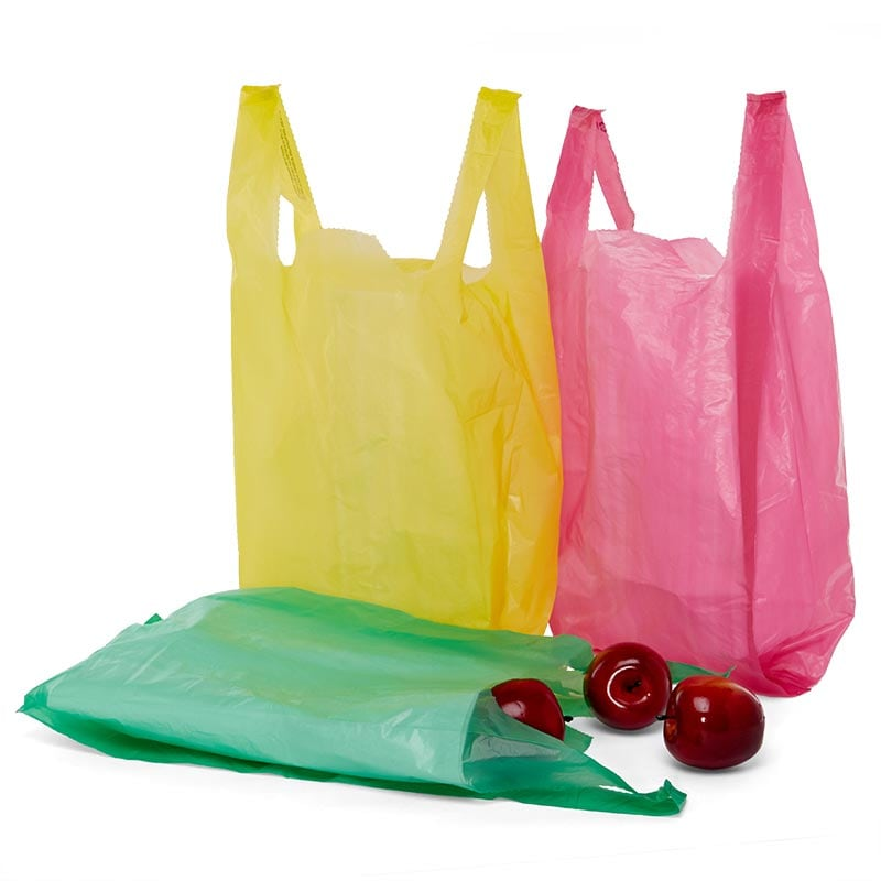 Colored T-Shirt Plastic Bags