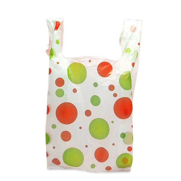 Holiday Plastic T-Shirt Bags