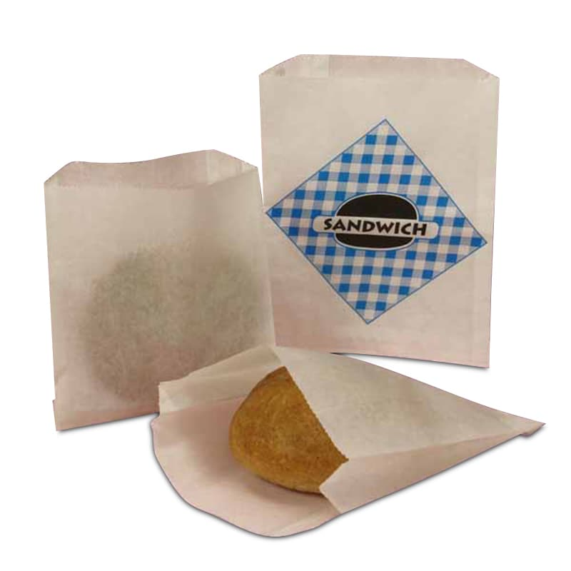 Economy White Merchandise Bags Window Bread Paper Sandwich