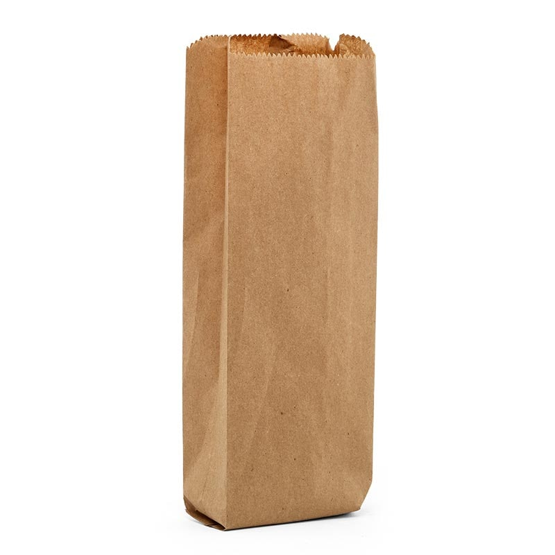 """#14 Quart Liquor Bags - 4-1/2 X 2 X 16 - Plastic Gusset - 2"""" - Quantity: 500 - Grocery Bags - Basisweight : 35 Lbs"""