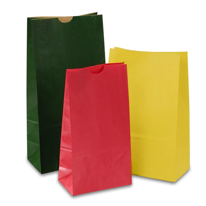 Colored Paper SOS Bags