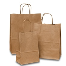 100% Recycled Kraft Shopping Bags · Brown Paper ...