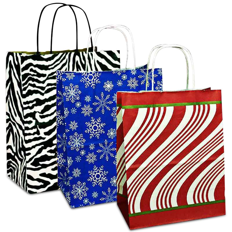 Printed Patterns Paper Shopping Bags