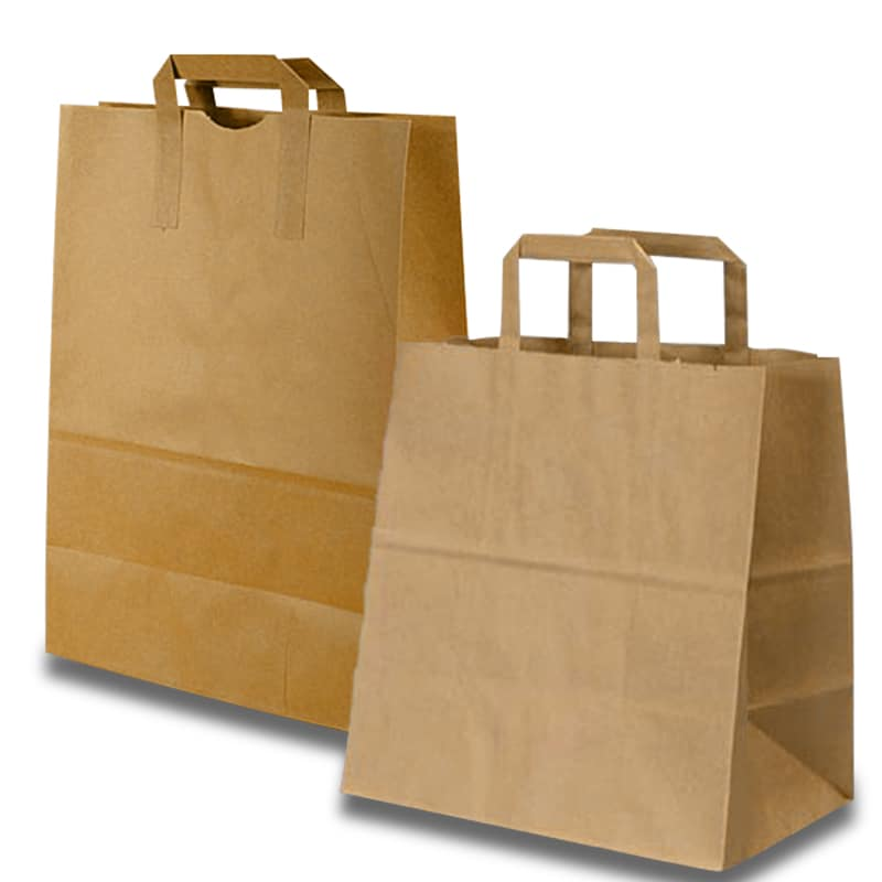 Kraft Flat Handle Grocery Bag