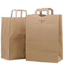 Kraft Flat Handle Grocery Bag ...