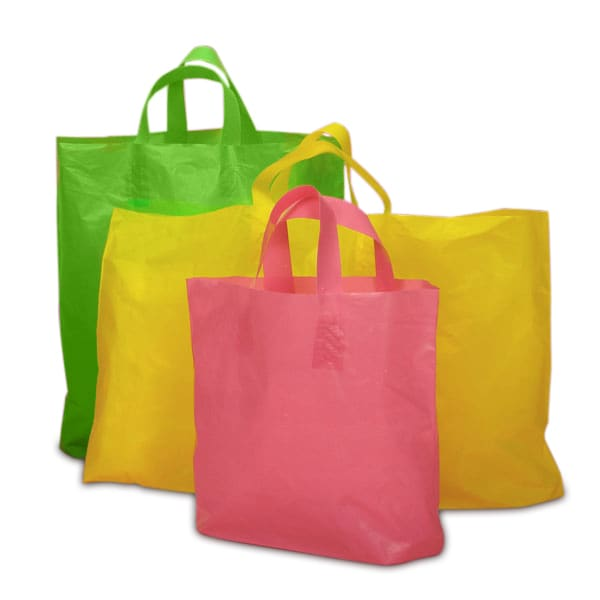 Matte Opaque Soft Plastic Loop Handle Shopping Bags