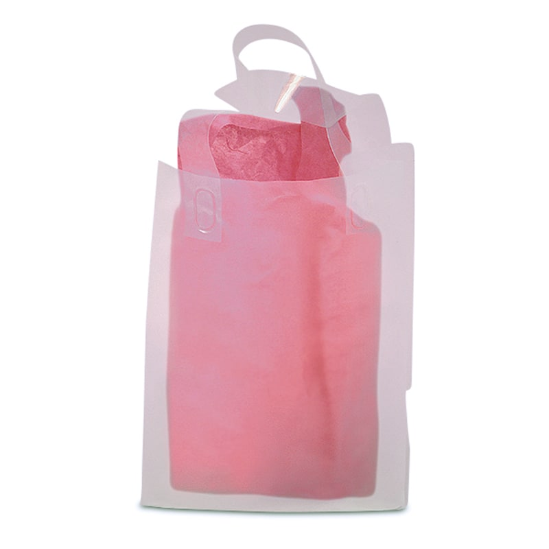 Clear Frosted Soft Loop Plastic Handle Bags
