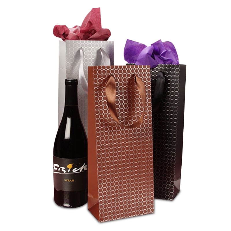 Embossed Dots Wine Bag