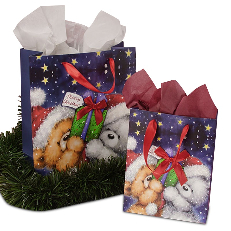 Christmas Bears Gift Bag