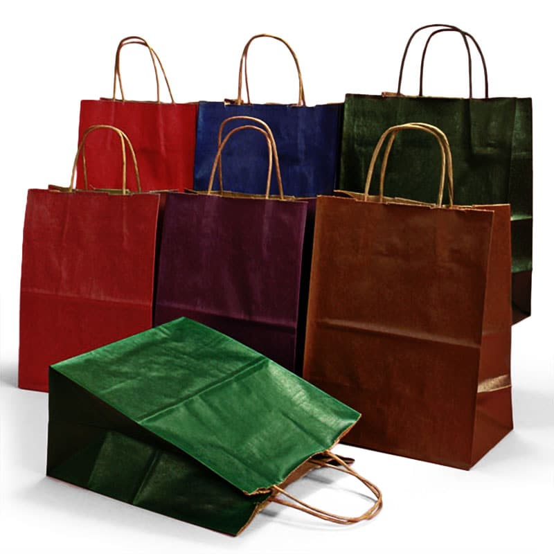 71628f464815 Colored Tint Kraft Shopping Bags ...
