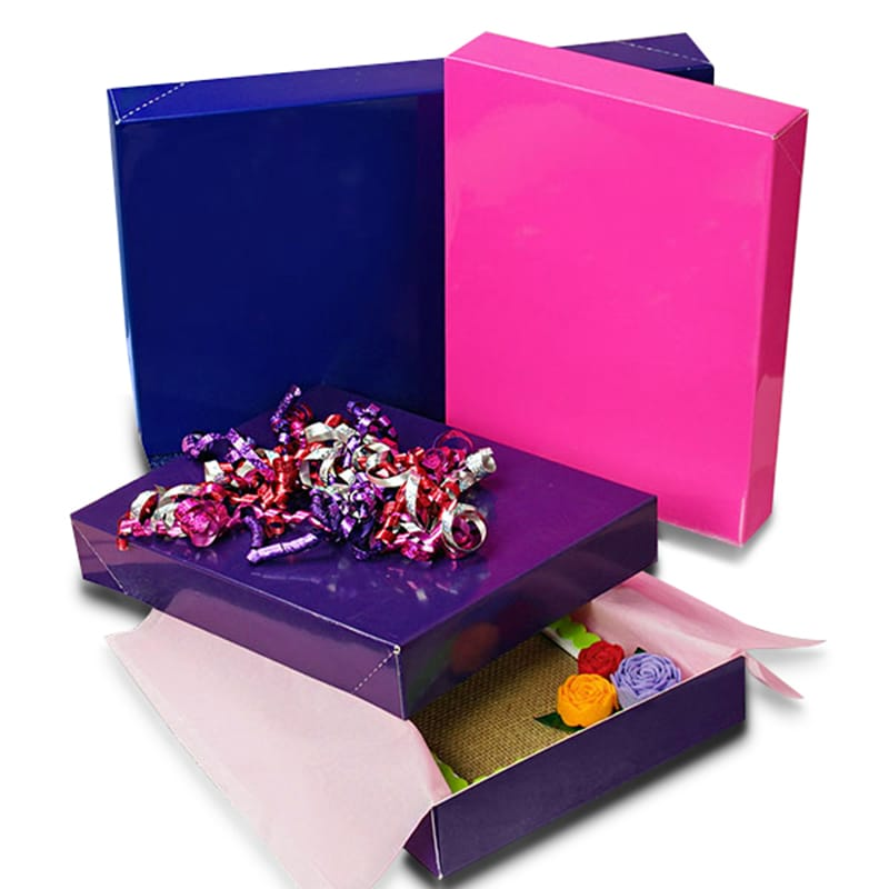 Colored High Gloss Apparel Boxes