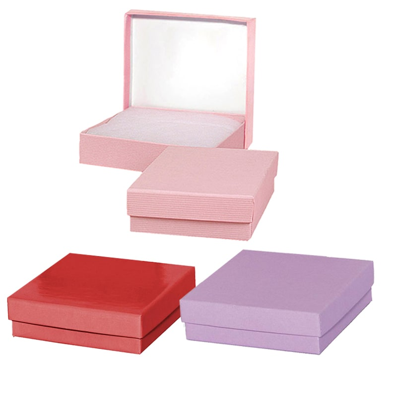 Solid Colored & Embossed Jewelry Boxes