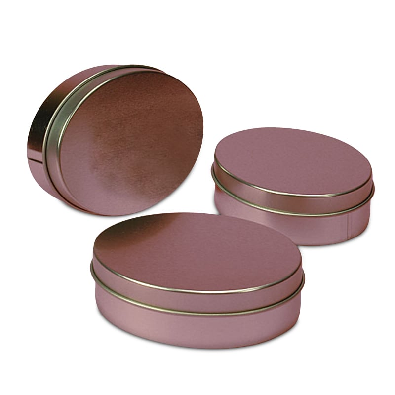 Shallow Oval Tin Cans