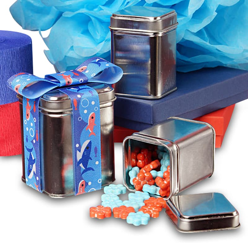 Square Tin Cans With Seam
