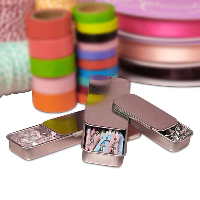 Silver Slide Top Tins