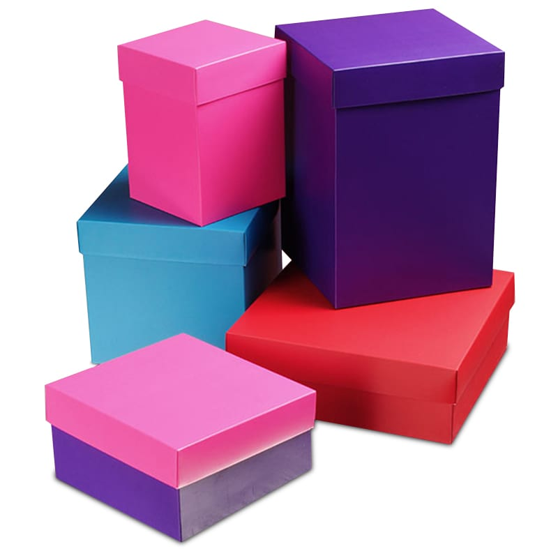 Gift boxes with lids check out paper marts variety colored deluxe satin finish two piece gift boxes negle Choice Image