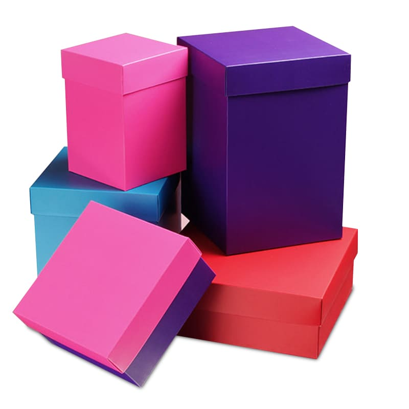 Colored Deluxe Two Piece Gift Boxes