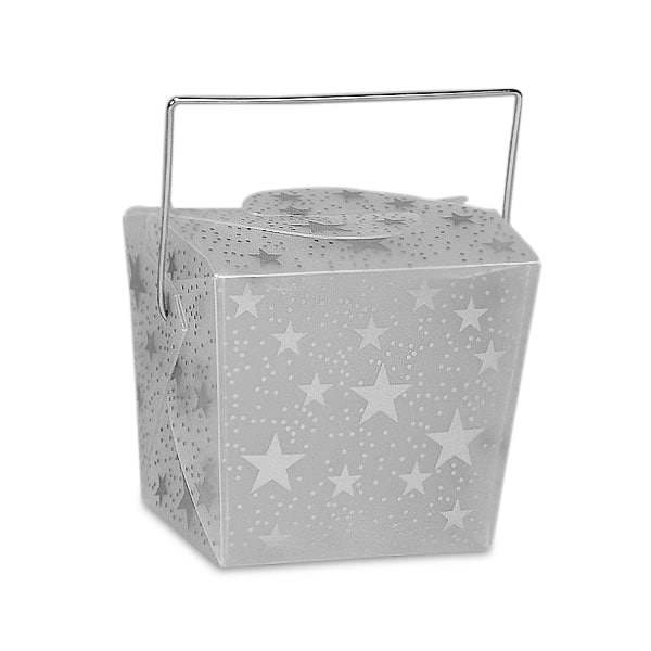 Star Pattern Plastic Wire Handle Boxes