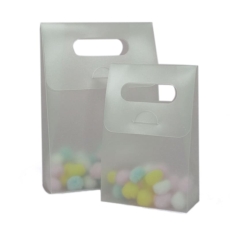 Tall Frosted Handle Plastic Tote Boxes