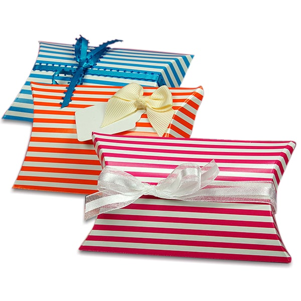 Striped Pillow Boxes