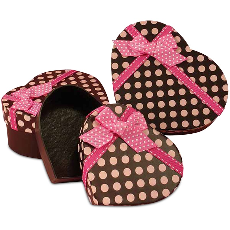 Polka Dot Heart Box