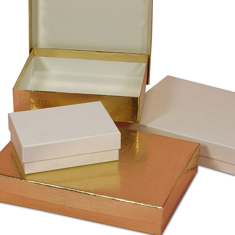 Two-Piece Linen Embossed Rigid Candy Box