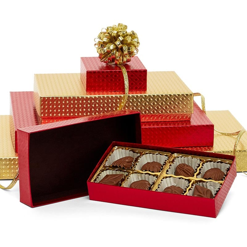 Diamond Embossed Rigid Candy Boxes