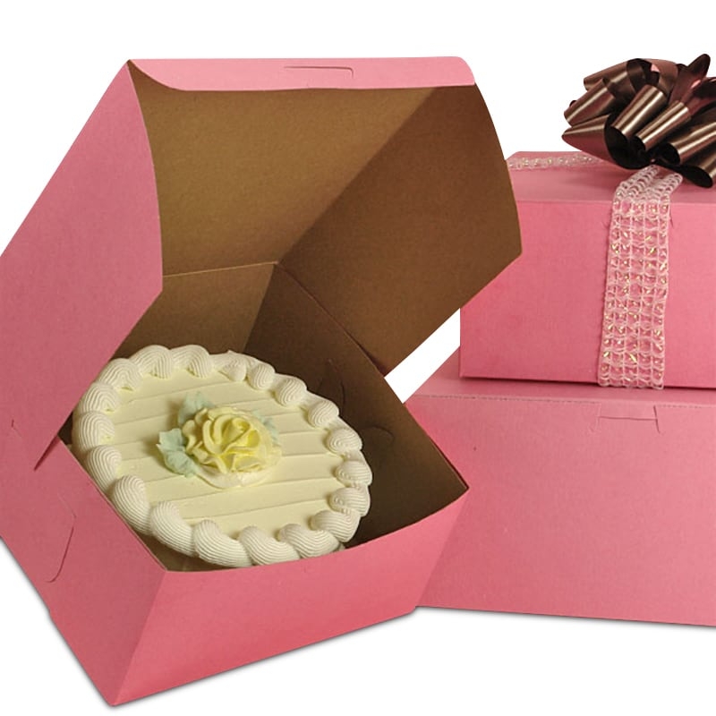 Standard Pink Cake & Pastry Boxes