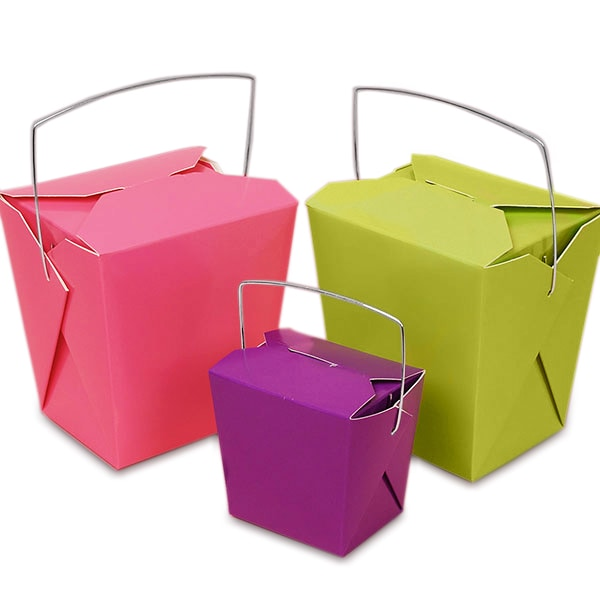 Colored Paper Wire Handle Boxes
