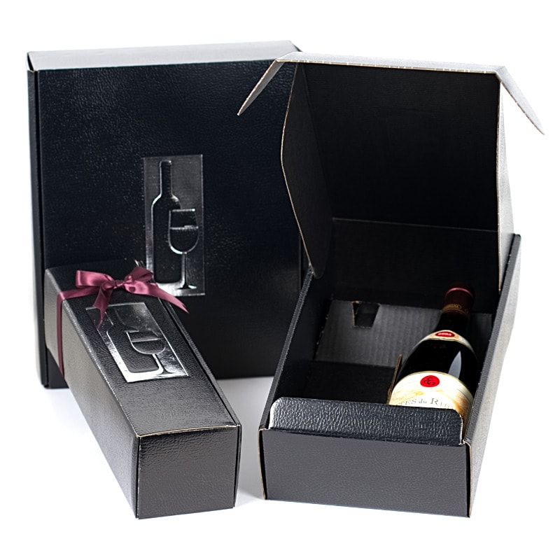 Black Presentation Wine Box