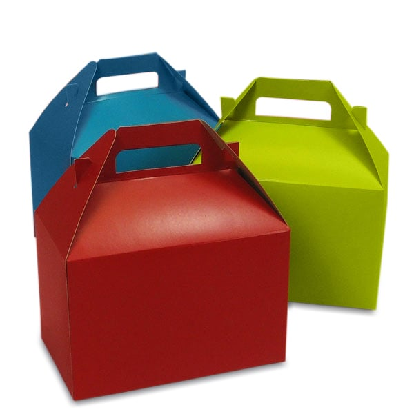 Colored Gable Gift Boxes