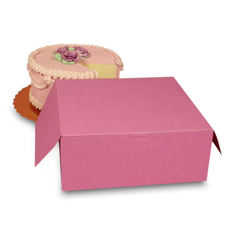 Premium Pink Automatic Cake Boxes