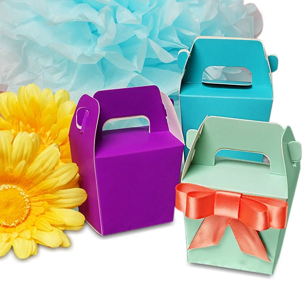 Colored Mini Tote Paper Boxes